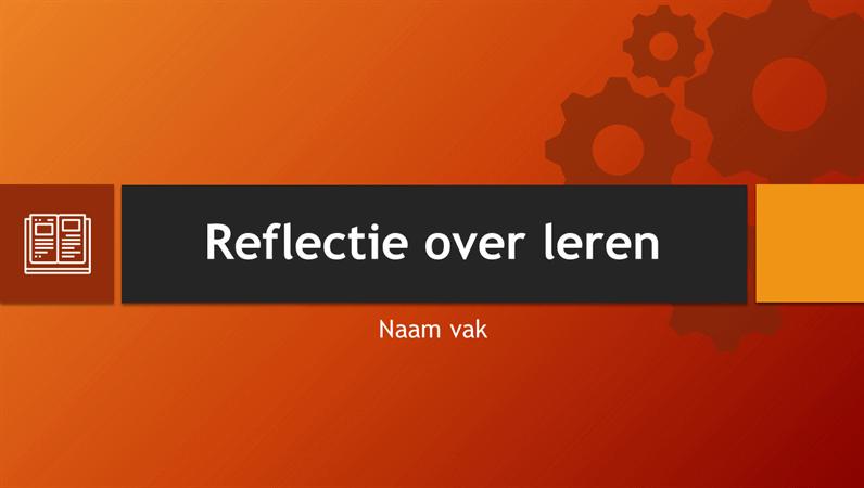 Reflectie over leren