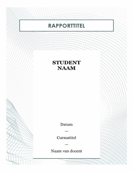 Modern studentenverslag