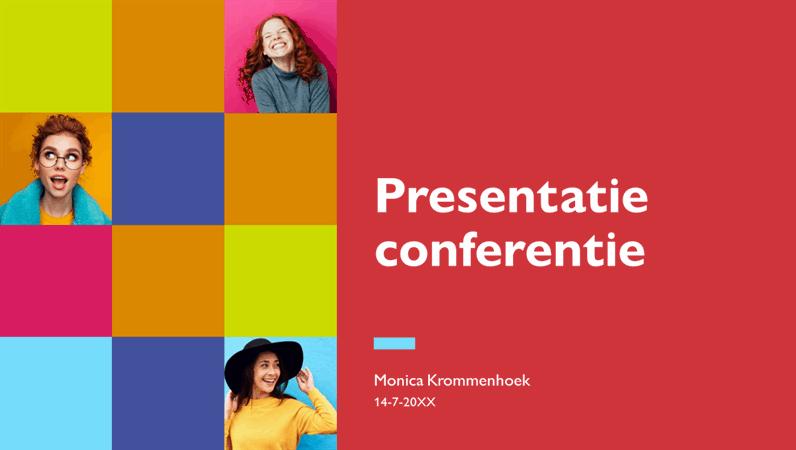 Kleurrijke presentatie voor vergaderingen