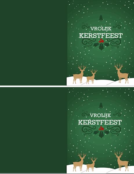 Rendier kerstkaart
