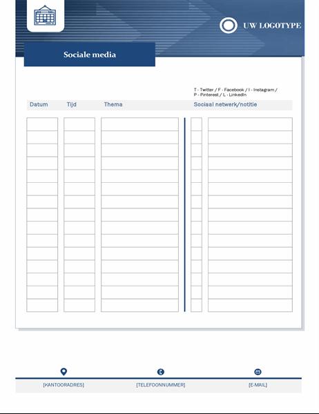 Inhoudskalender voor kleine bedrijven