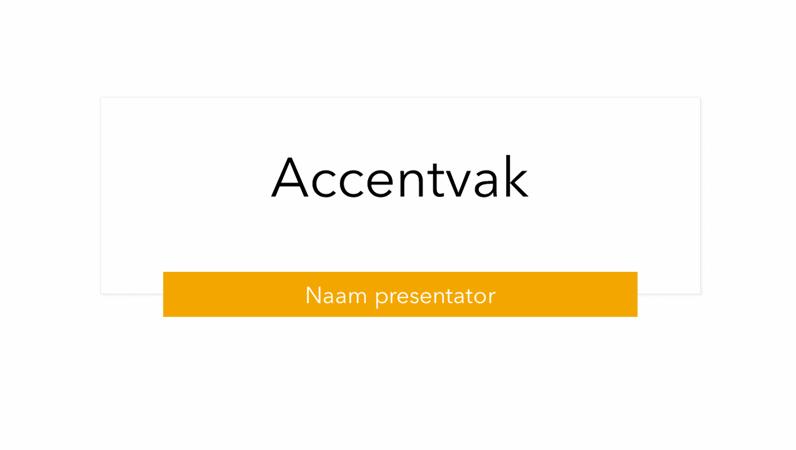 Presentatie Accentvak
