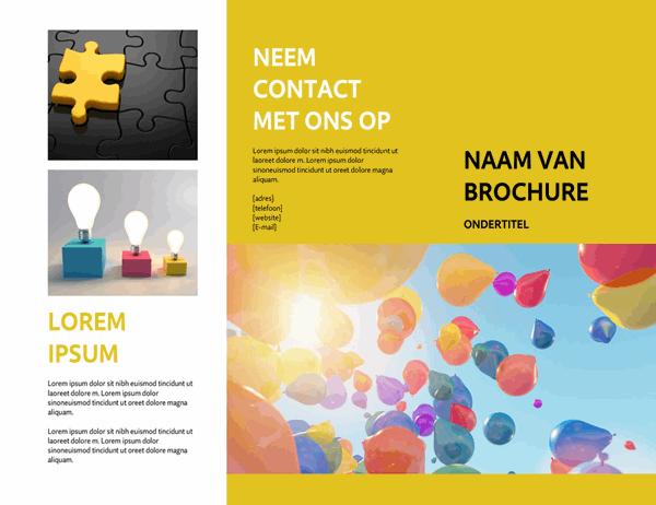 Gele brochure voor evenementen
