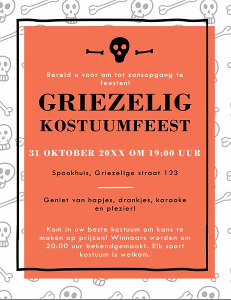 Flyer voor Halloween-viering