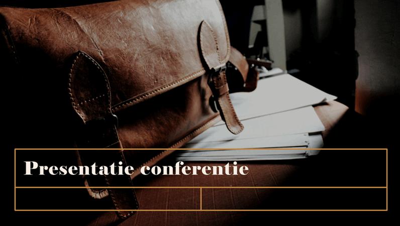 Klassieke presentatie voor vergaderingen