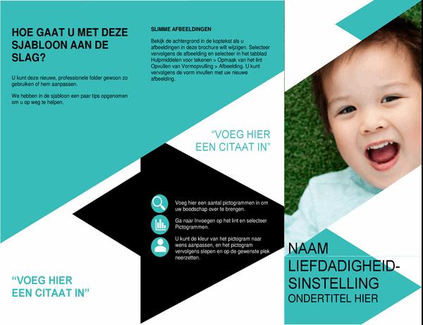 Brochure voor non-profitorganisatie