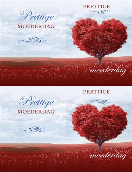 Hartenboom-kaart voor Moederdag