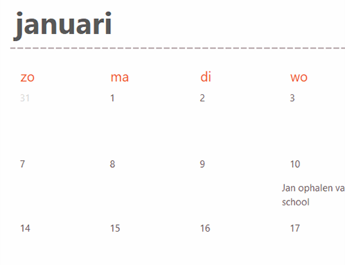 Eeuwigdurende-kalenderbladen (wit)