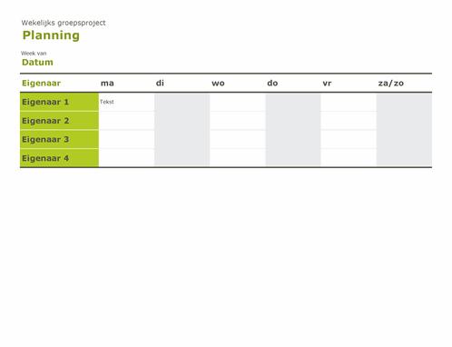 Groepsplanning