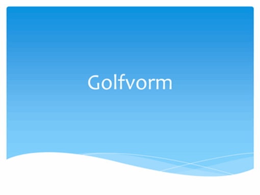 Golfvorm