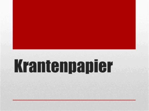 Krantenpapier