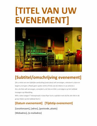 Evenementenflyer (oranje)
