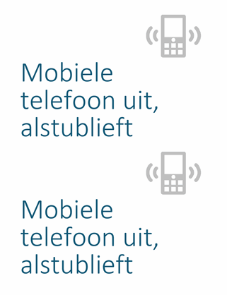 Poster met herinnering om mobiele telefoon uit te zetten