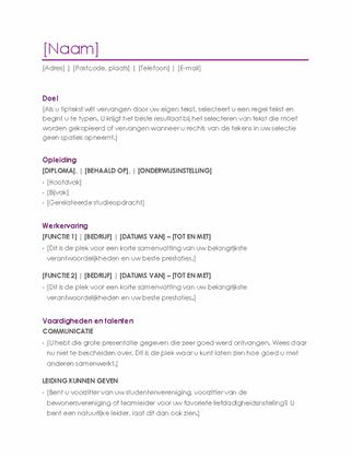 CV (paars)