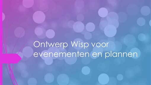 Ontwerp Wisp voor evenementen en plannen
