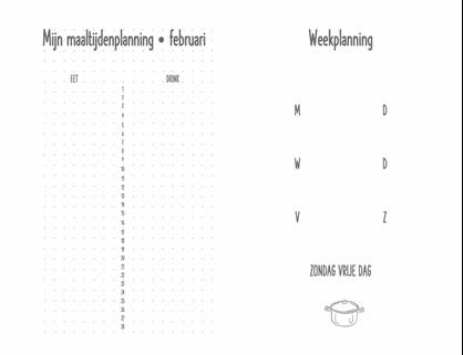 Dagboek voor maaltijdenplanning