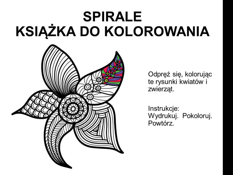 Kolorowanka ze spiralami