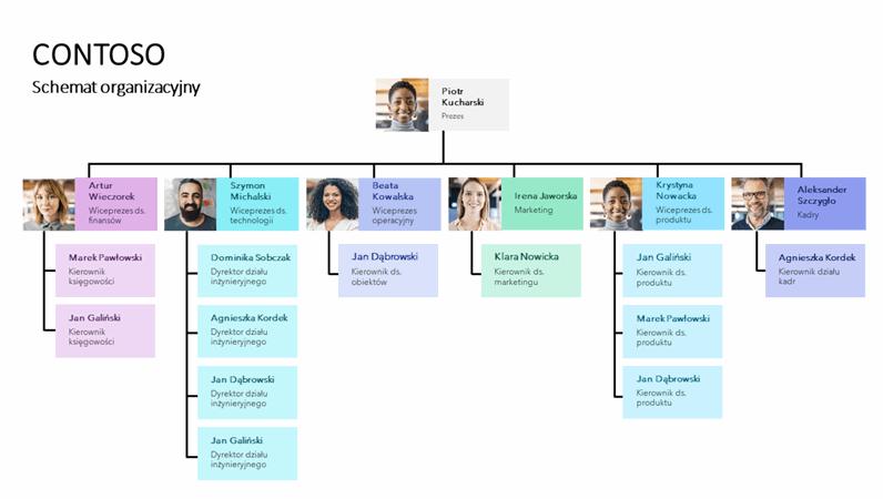 Minimalistyczny schemat organizacyjny