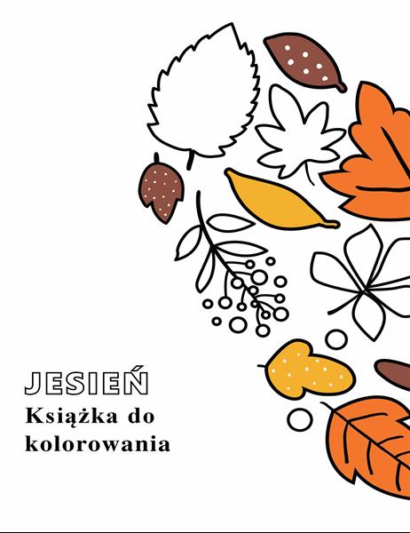 Jesienna książka do kolorowania