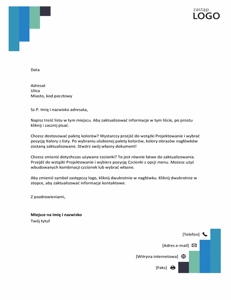 Nagłówek listowy — niebieskie stopnie