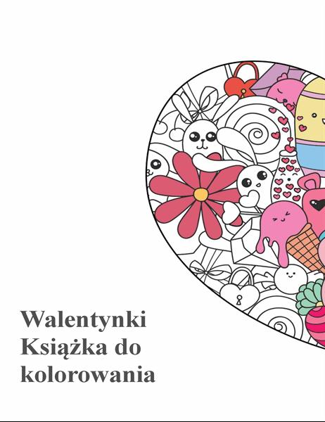 Walentynkowa książka do kolorowania