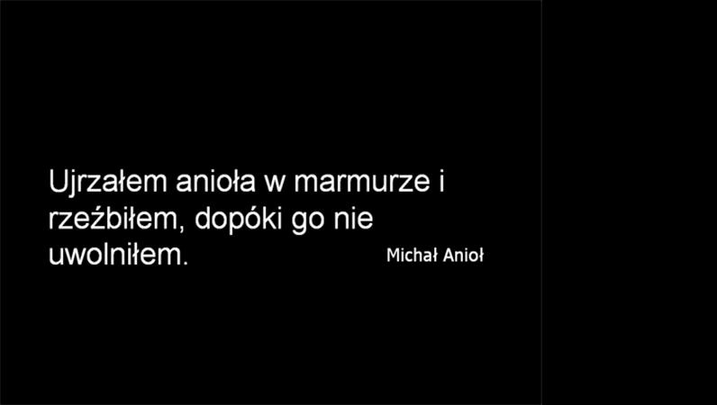 Slajd z cytatem — Michał Anioł