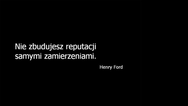 Slajd z cytatem — Henry Ford