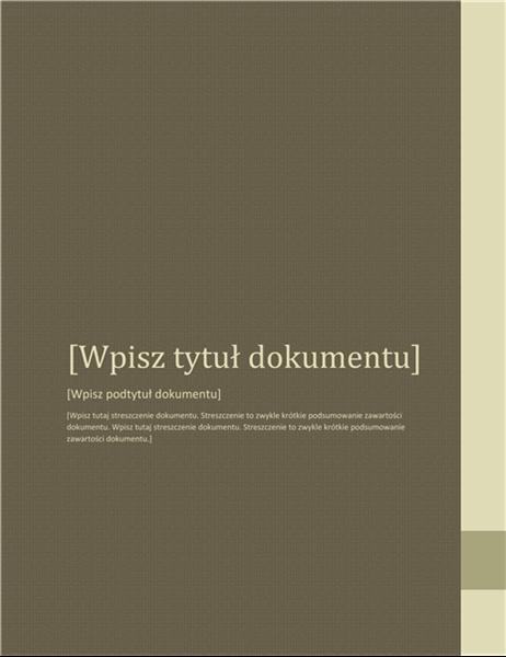 Raport (projekt Przyleganie)