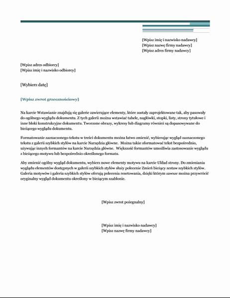 List (motyw Wielkomiejski)