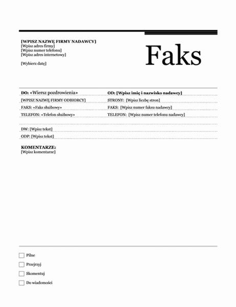 Faks korespondencji seryjnej (motyw Wielkomiejski)