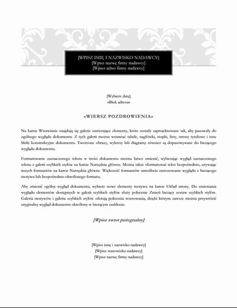 List korespondencji seryjnej (motyw Czarny krawat)