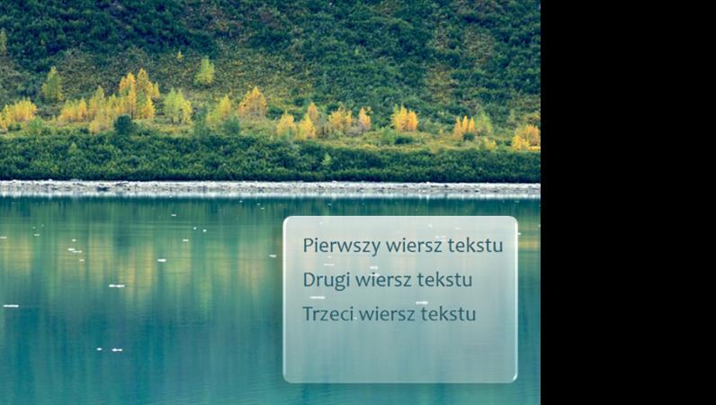 Animowane tytuły wyłaniające się na slajdzie na leśnym tle