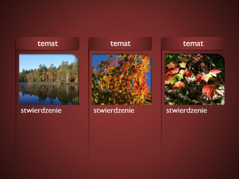 Grafika SmartArt z obrazami na czerwonym tle