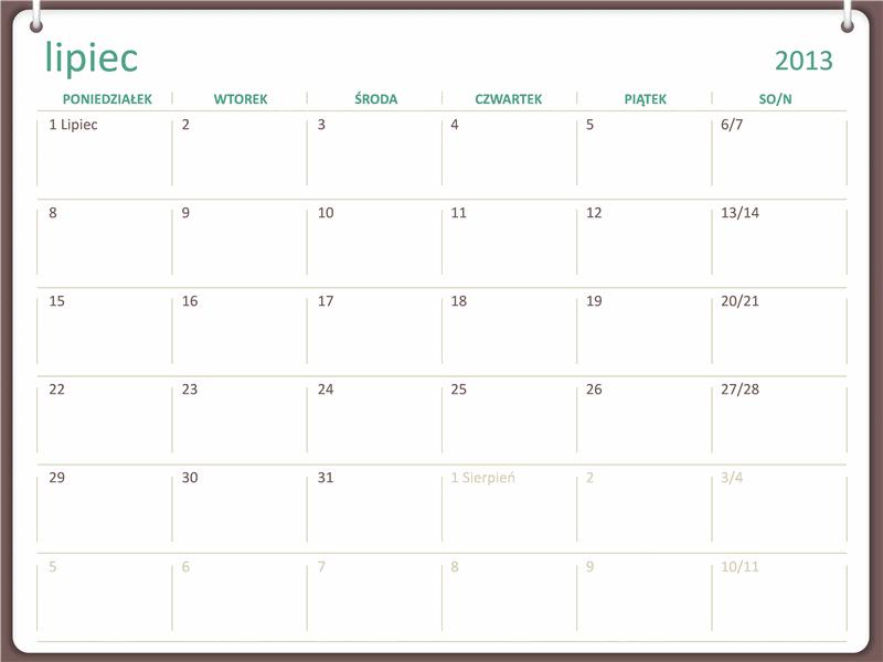 Kalendarz akademicki 2013/2014 (lipiec)