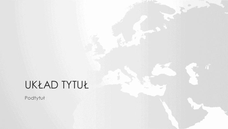 Seria map świata, prezentacja Kontynent europejski (panoramiczna)