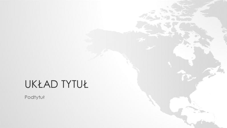 Seria map świata, prezentacja Kontynent Ameryki Północnej (panoramiczna)