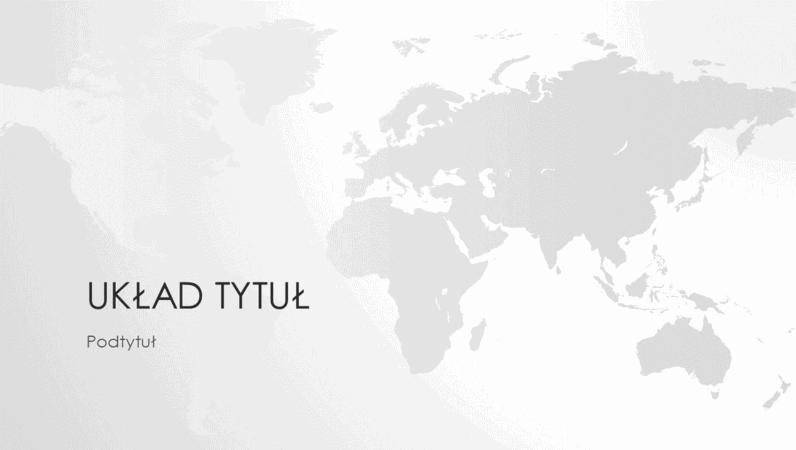 Seria map świata, prezentacja Świat (panoramiczna)