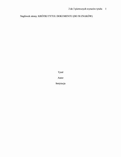 Format dokumentu APA