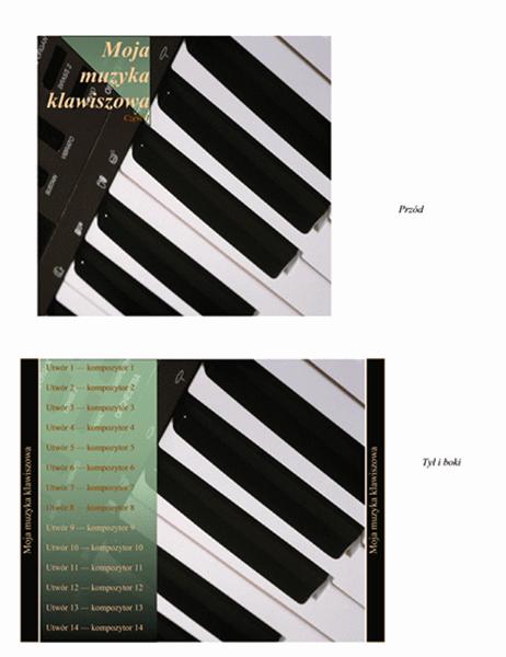 Wkładka do pudełka na dysk CD (pianino)