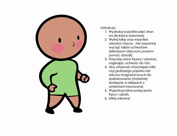Papierowe lalki (dla chłopca, zestaw 2)