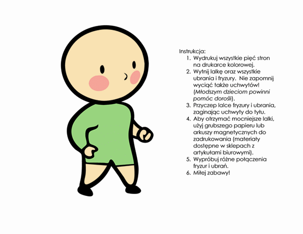 Papierowe lalki (dla chłopca, zestaw 3)