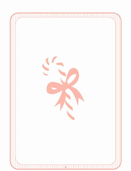 Papeteria świąteczna (ze znakiem wodnym w postaci cukierka)