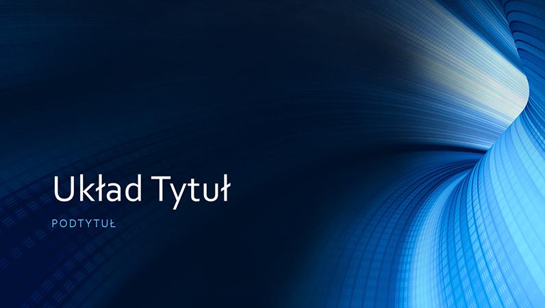 Prezentacja biznesowa z niebieskim tunelem cyfrowym (panoramiczna)