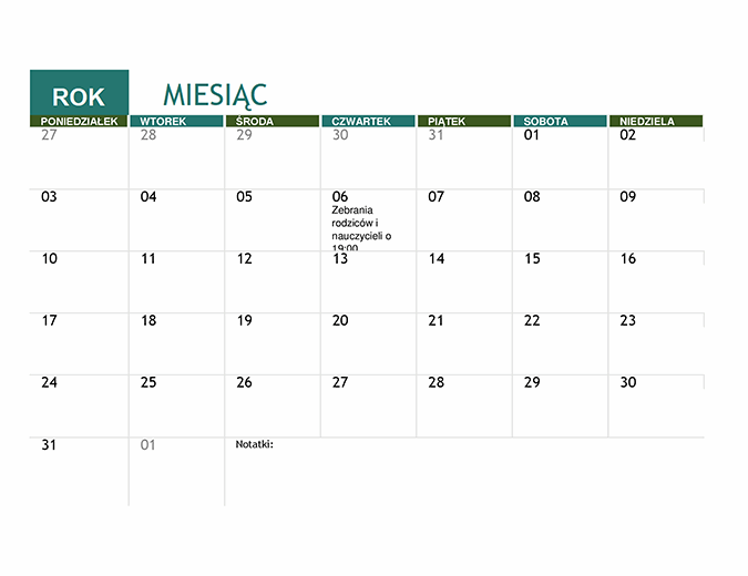 Kalendarz akademicki