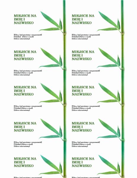 Wizytówki (bambus)