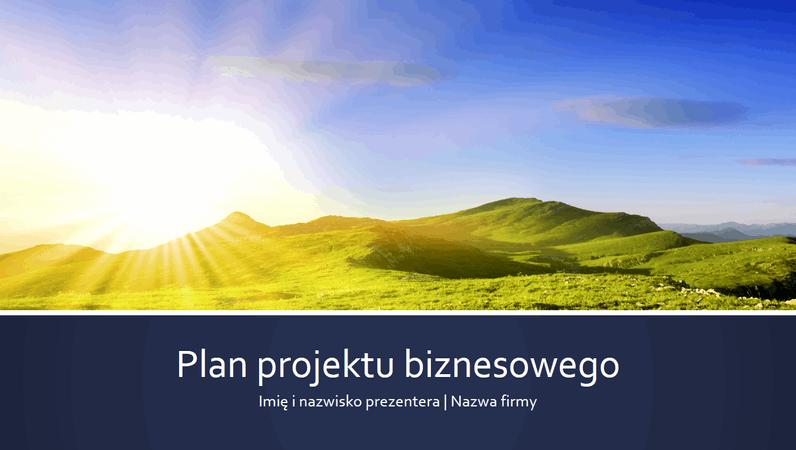 Prezentacja planu projektu biznesowego (panoramiczna)