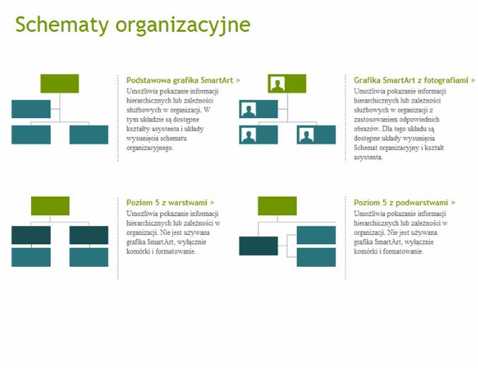 Schematy organizacyjne (wizualne)