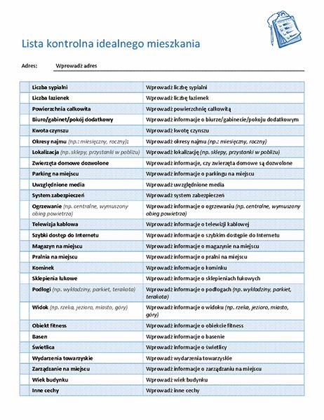 Lista kontrolna do wyboru idealnego mieszkania