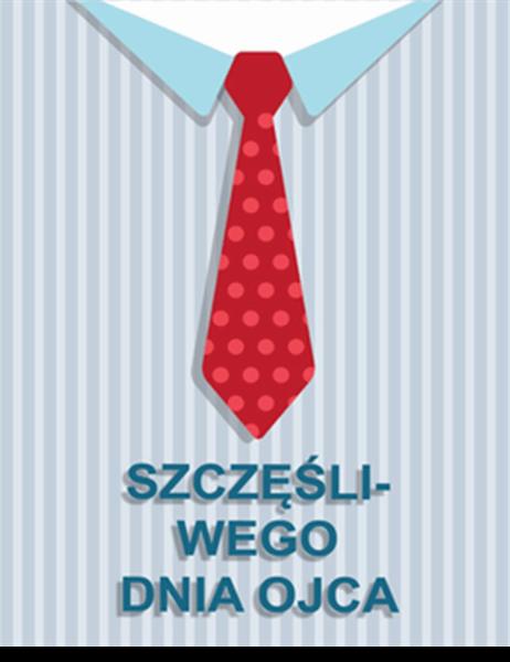 Kartka z krawatem z okazji Dnia Ojca (składana na cztery)