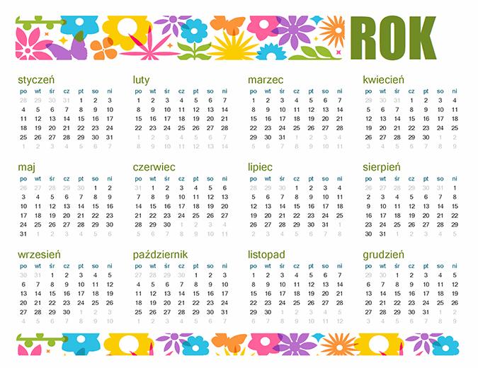 Zabawny kalendarz na dowolny rok
